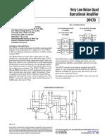Operational Amplifier OP470