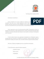 Mensaje de condolencias del colectivo Rincón Cubano Granma