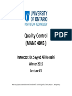 01 Quality Control Lecture #1
