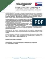 MENSAJE DEL CONSEJO NACIONAL DE LAS ASOCIACIONES DE AMISTAD Y SOLIDARIDAD CON CUBA - RUMANIA, POR FALLECIMIENTO DEL COMANDANTE EN JEFE FIDEL CASTRO RUZ