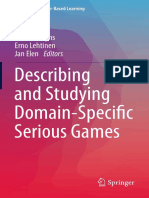 (Advances in Game-Based Learning) Joke Torbeyns, Erno Lehtinen, Jan Elen (Eds.)-Describing and Studying Domain-Specific Serious Games-Springer International Publishing (2015)