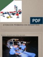 Atencion Primaria en Desastres