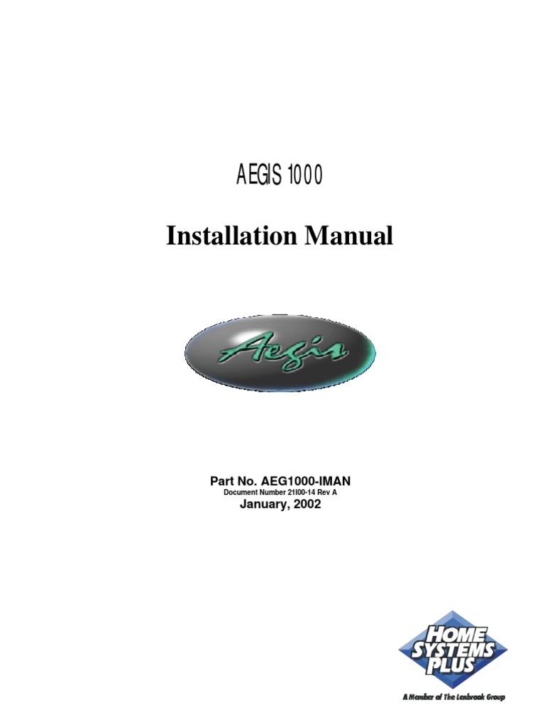 Aegis 1000 Installation Manual Thermostat Electrical Connector Rj31x Rj45 Wiring Diagram