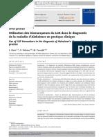 Utilisation DesbiomarqueursduLCRdanslediagnosticdela MA en Pratique Clinique