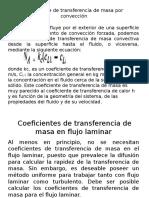 Coeficiente de transferencia de masa por convección