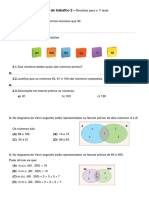 Ficha de Trabalho 2 - Matemática
