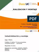Industrialización y Montaje.