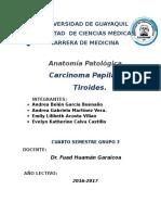 Carcinoma Papilar de Tiroides.