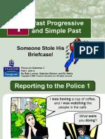 Past Progressive and Simple Past