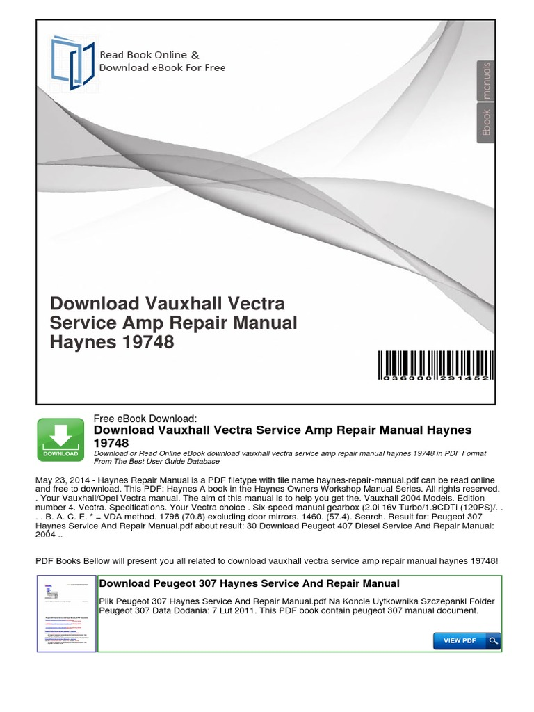 Vectra a serbiapdf opel motor vehicle manufacturers of germany fandeluxe Choice Image
