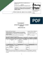 Estructura Del Indice Del Dossier Parada Cloro Soda 2016