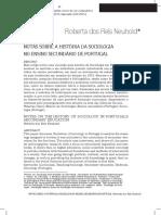 Notas Sobre a História Da Sociologia No Ensino Secundário de Portugal
