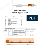 p Cdd 03 Procedimiento Auditoria Interna Version 01
