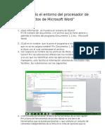 Conociendo El Entorno Del Procesador de Textos de Microsoft Word