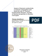 Analyses of thermal conductivity from mineral composition and analyses by use of Thermal Conductivity Scanner