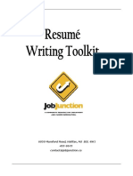 Job Junction Resume Writing Toolkit
