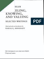 Scheler - Selected Writings,