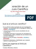 Elaboración de Un Papper o Artículo Científico
