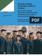 Placing Graduation Rates in Context