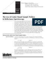 The Use of Center Mount Sample Holders