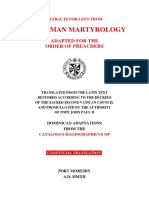 Martyrologium Lent 2012