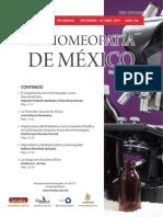 La Homeopatía de México, no. 704 (septiembre-octubre de 2016)