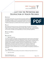reed mod3 assignment 3 policies for retention and destruction of health records