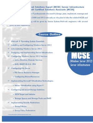 mcse pdf   Active Directory   Group Policy
