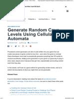 Generate Random Cave Levels Using Cellular Automata - Tuts+ Game Development Tutorial