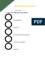 Club Questionnaire Survey