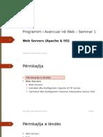 Seminar 1 - 07.11.2015(Apache+IIS)