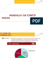 Mendeley en Cinco Pasos