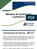 2.2) Métodos de Localización Cualitativos (1)