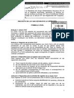 Proyecto de Ley que establece la Unión Civil