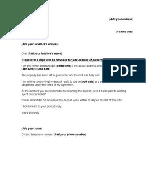 Deposit Return Letter To Tenant from imgv2-1-f.scribdassets.com