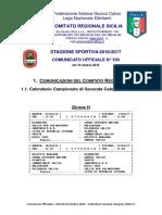 Calendario II Categ 2016-2017 Girone H