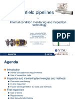 Infield Pipelines, Internal Condition Monitoring and Inspection