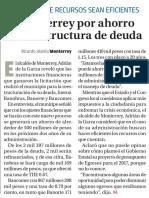 24-11-16 Va Monterrey por ahorro con reestructura de deuda