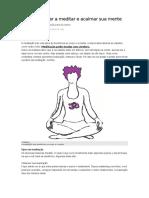 Como Começar a Meditar e Acalmar Sua Mente