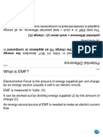 EMF Potential Difference