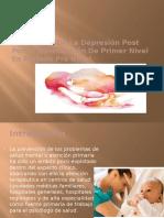 Prevención de La Depresión Post Parto
