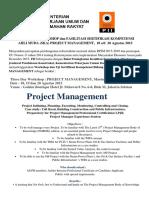 Three Day Workshop Management 18-20 Agustus