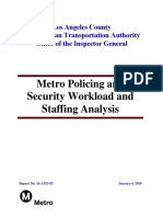 Metro Policing and Security Workload Staffing Final Report
