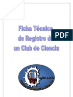 ficha técnica de registro de un club de ciencia