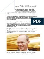 Simon Coveney, Water Bill Debt Must Be Paid
