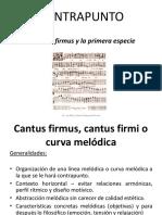 Contrapunto - Cantus Firmus y Primera Especie