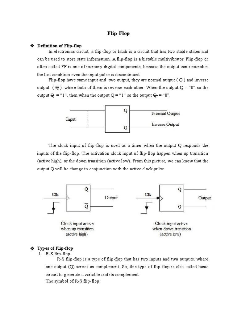 7 Flip Flop Digital Electronics D 7474 Logic Diagram