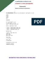 3 Listas de Exercc3adcios Resolvidos de Trigonometria