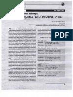 Nuevos Requerimientos de Energia FAO OMS 2004