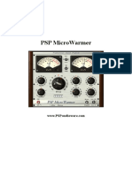 PSP MicroWarmer Operation Manual